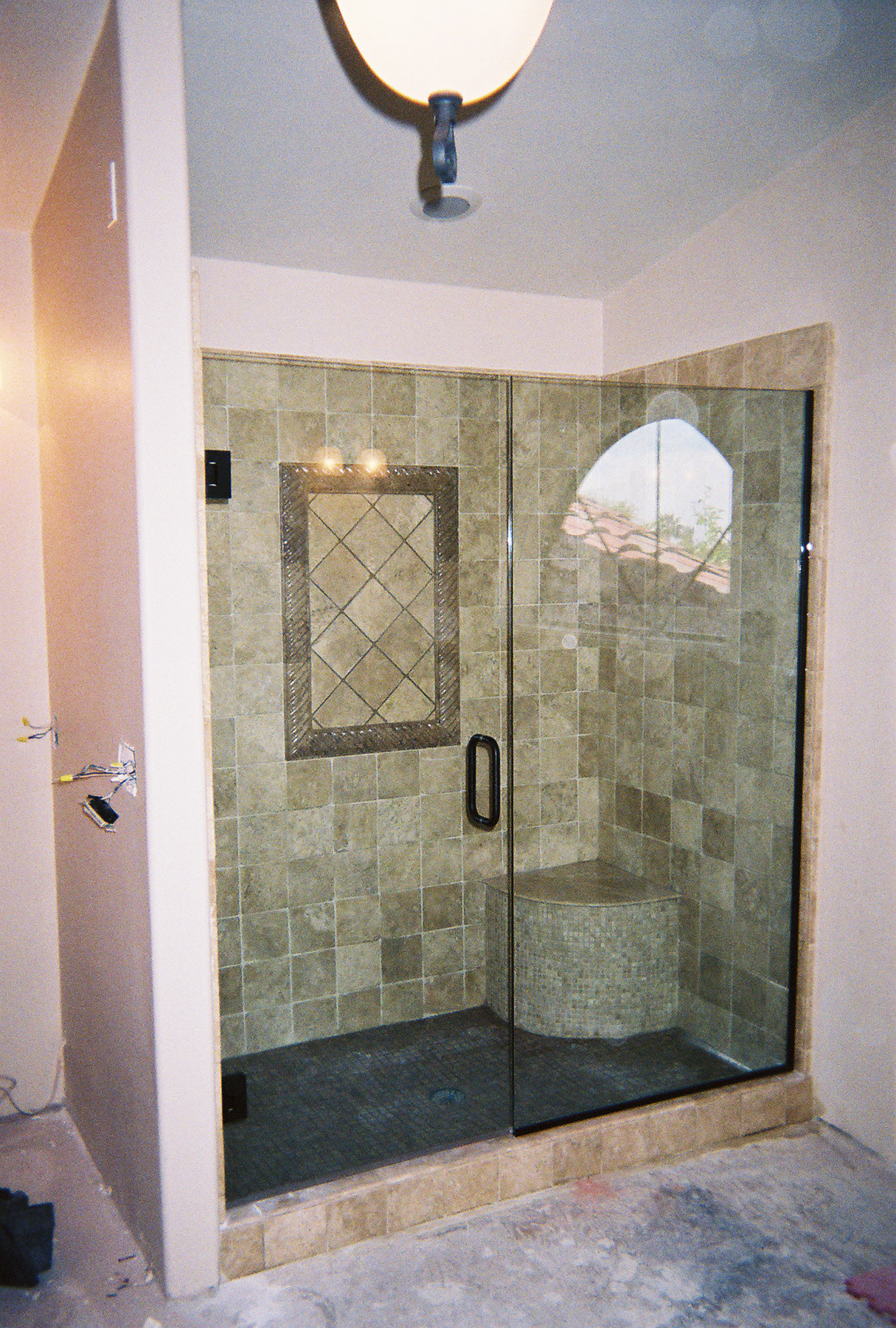 tempe frameless shower door