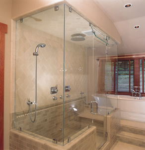 frameless shower enclosure